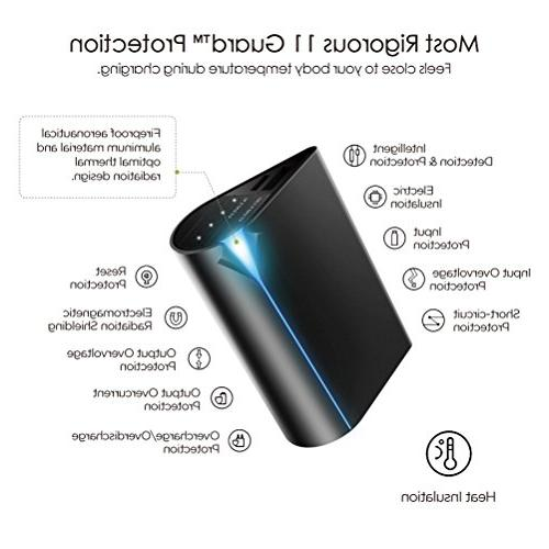 Simpiz 5000mAh portable charger power bank battery pack for iPhone x 6 plus, Samsung s6 s7, Moto, HTC - Sony Cells fast&quick charging