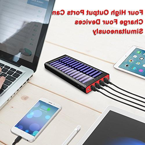 Bank High-Speed Charging Capacity External Packs Chargers with 2 3 Portable Phone Charger