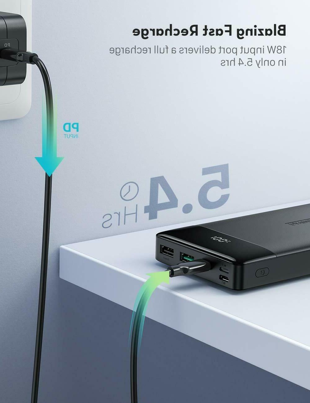 RAVPower Portable Charger PD QC 18W C