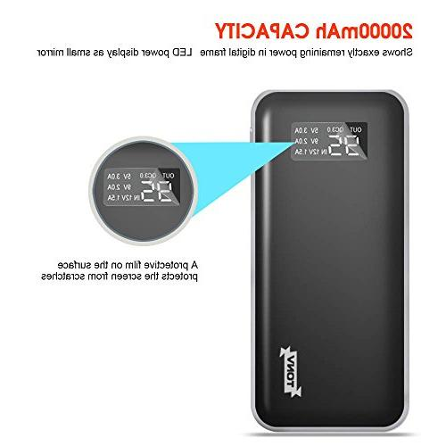 20000mah Quick Charger High Capacity Portable with LCD for C Power Port More
