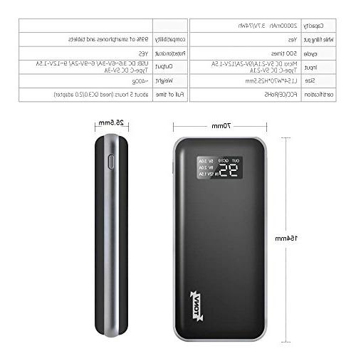 20000mah Portable Capacity with LCD C Power and More