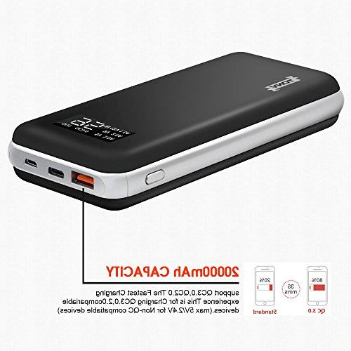 20000mah Charger Quick Charger Capacity with Digital for C Power Port and More