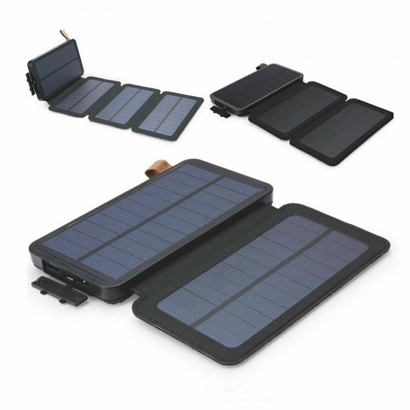 Portable Foldable Solar Charger USB LED Power Bank DIY For