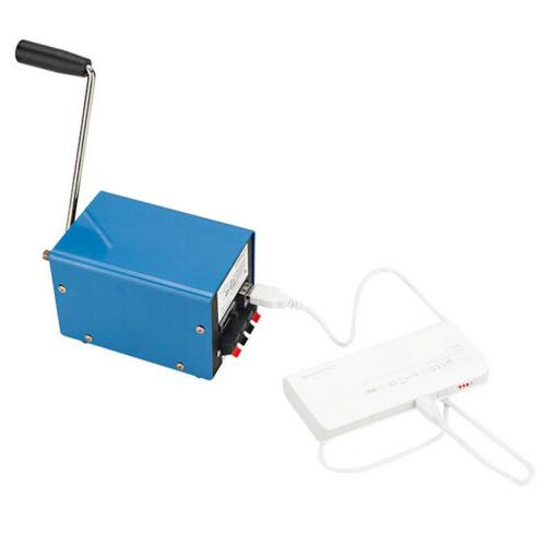 Portable Hand Crank Emergency USB Charger Generator Outdoor Survival