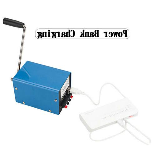 Portable Crank USB Charger Camping Outdoor