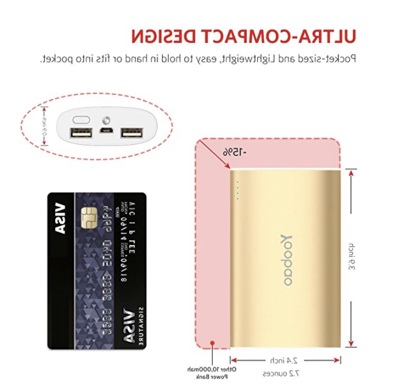Portable iPhone Charger, Power Bank Charger Power