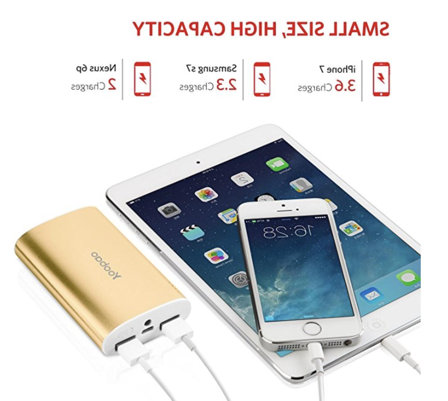 Portable iPhone Charger, Power 10200mAh Charger Power
