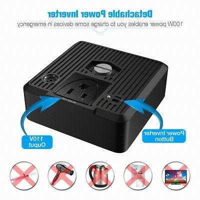 Poweradd 100000mAh Bank Portable Generator Power Inverter AC & Outputs