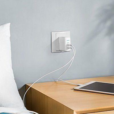 portable usb wall charger dual port elite