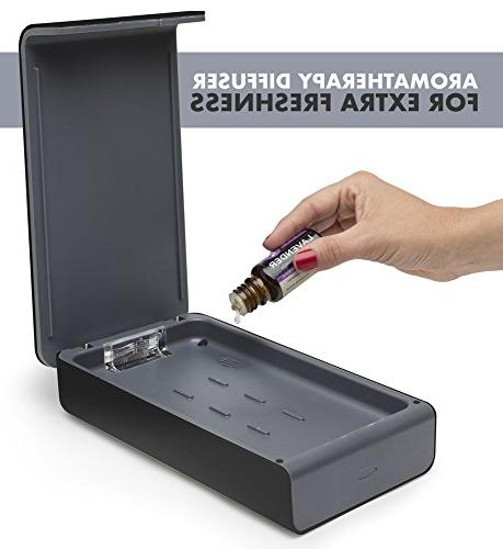 Sanitizer Disinfection for Smartphone iPhone 6 6s Toothbrush Aromatherapy Hub Sterilizer Cleaner Case