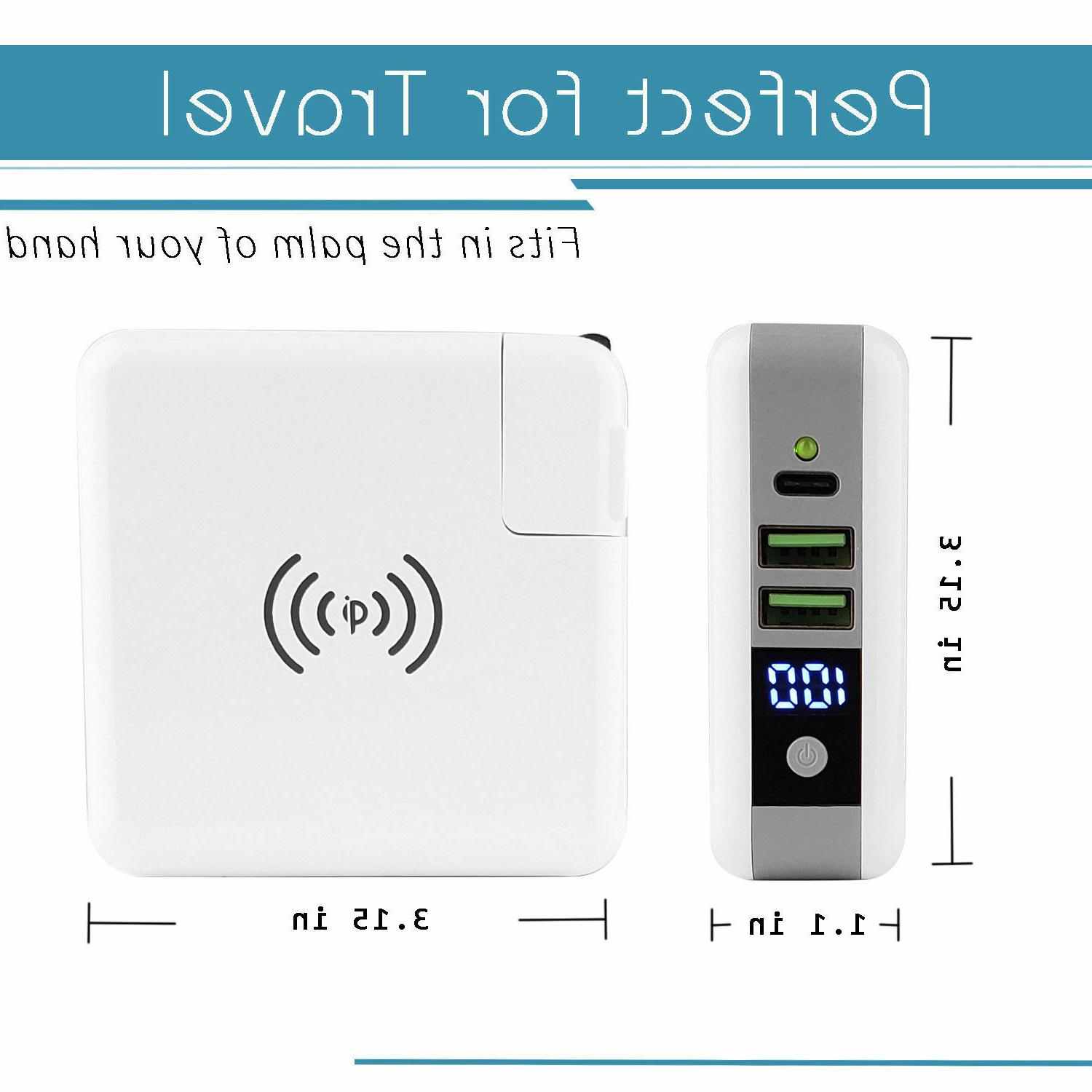 Portable Wireless Bank Quick USB Wall