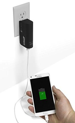 Plugable Power 2015 USB Pass-Through AC Smart for Apple iOS, and Mobile Devices