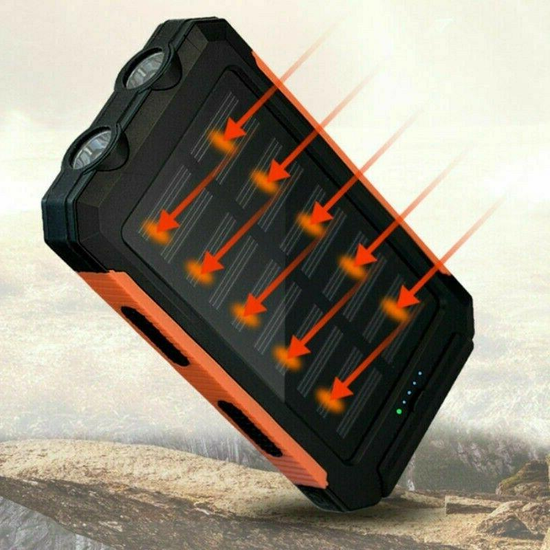 Power Bank Camping USB Charger Battery Pack Waterproof