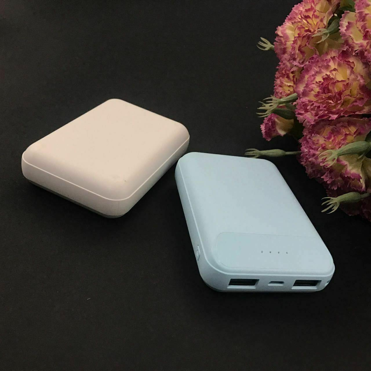 Power Bank Dual USB Mini Battery Charger