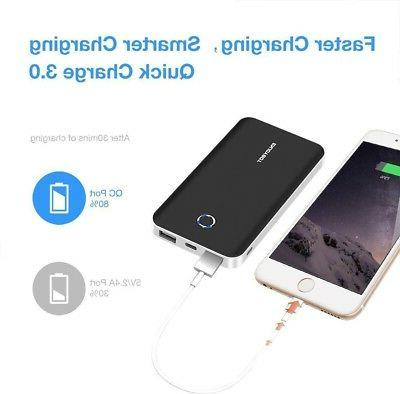 Enjoybot Power Bank 10000mAh Quick Charge 3.0 Portable Charger