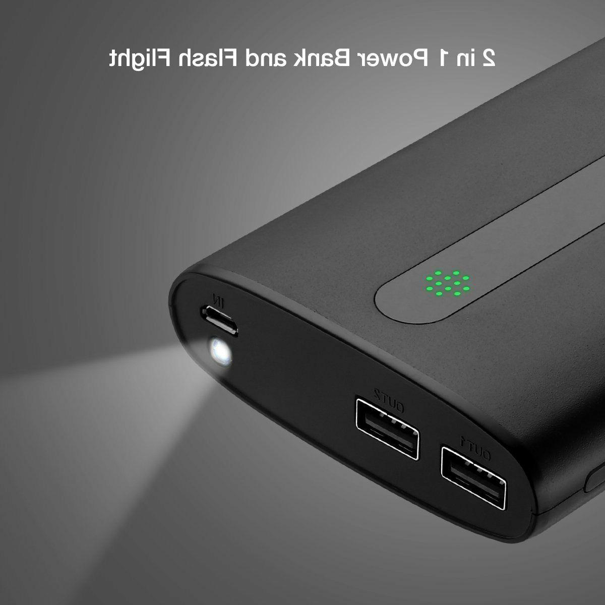 Aibocn Power 20000mAh Portable Charger with Flashlight