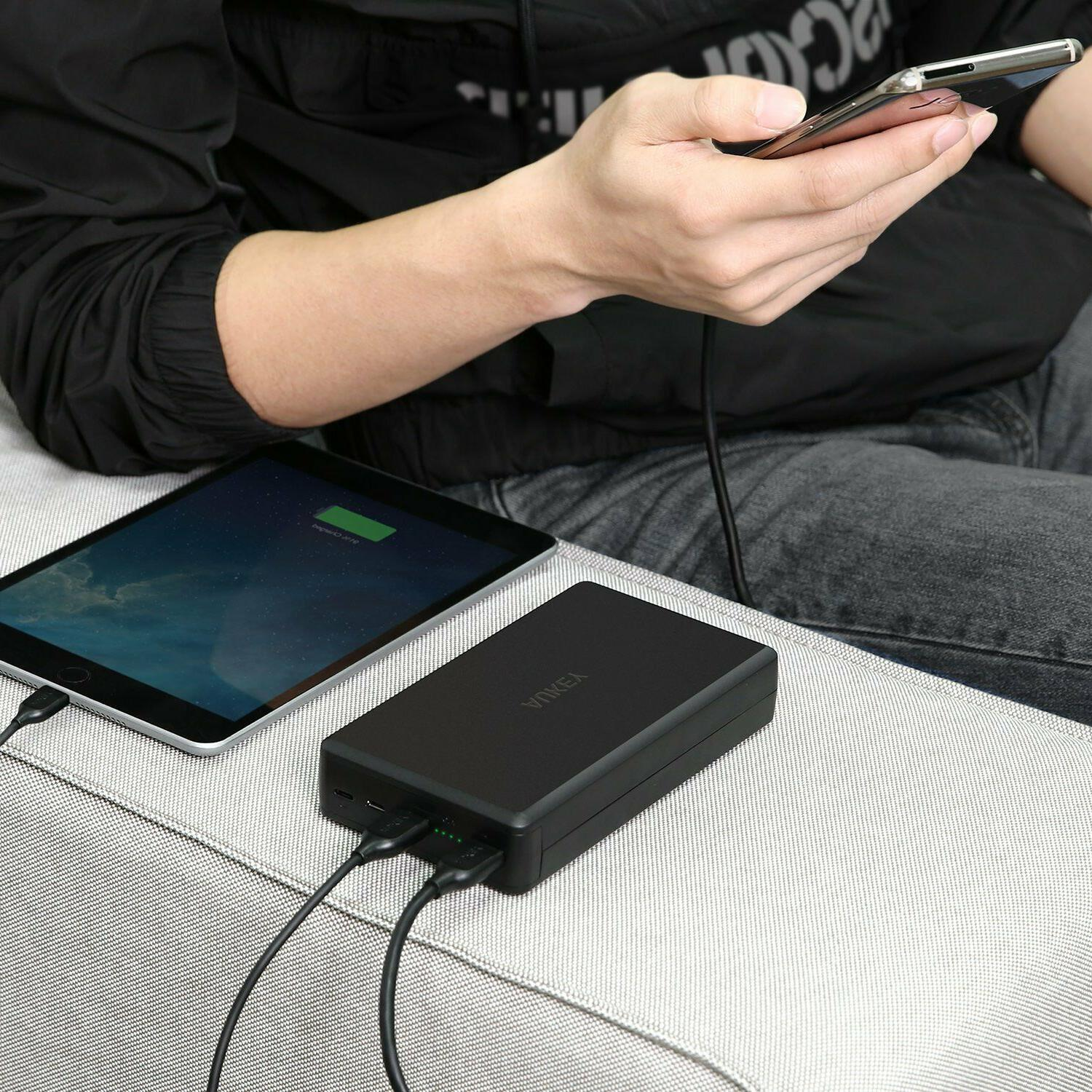 AUKEY Bank Quick Charge 3.0 Portable Charger, Input Battery