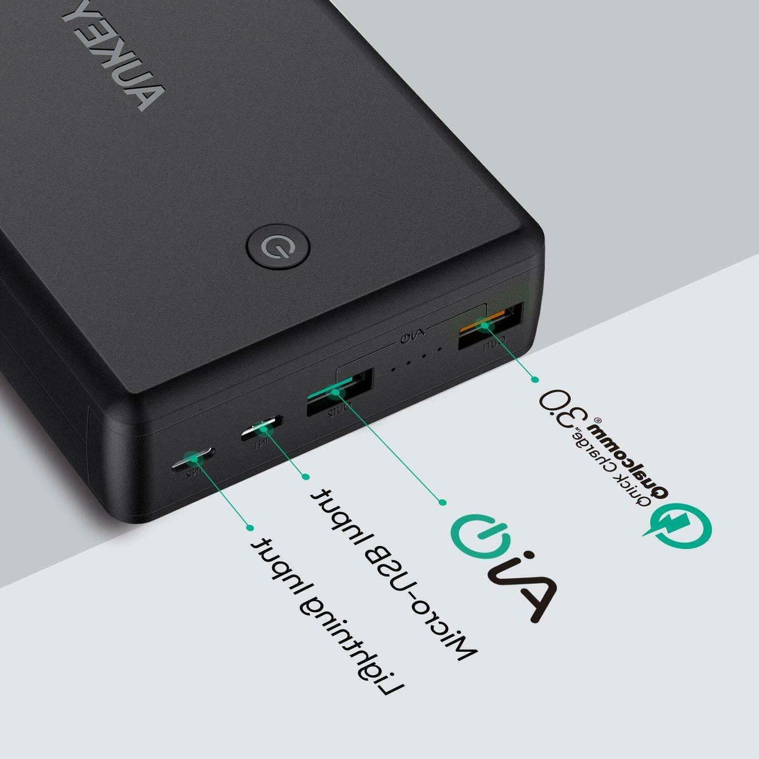 AUKEY Bank Quick 3.0 Charger, Battery