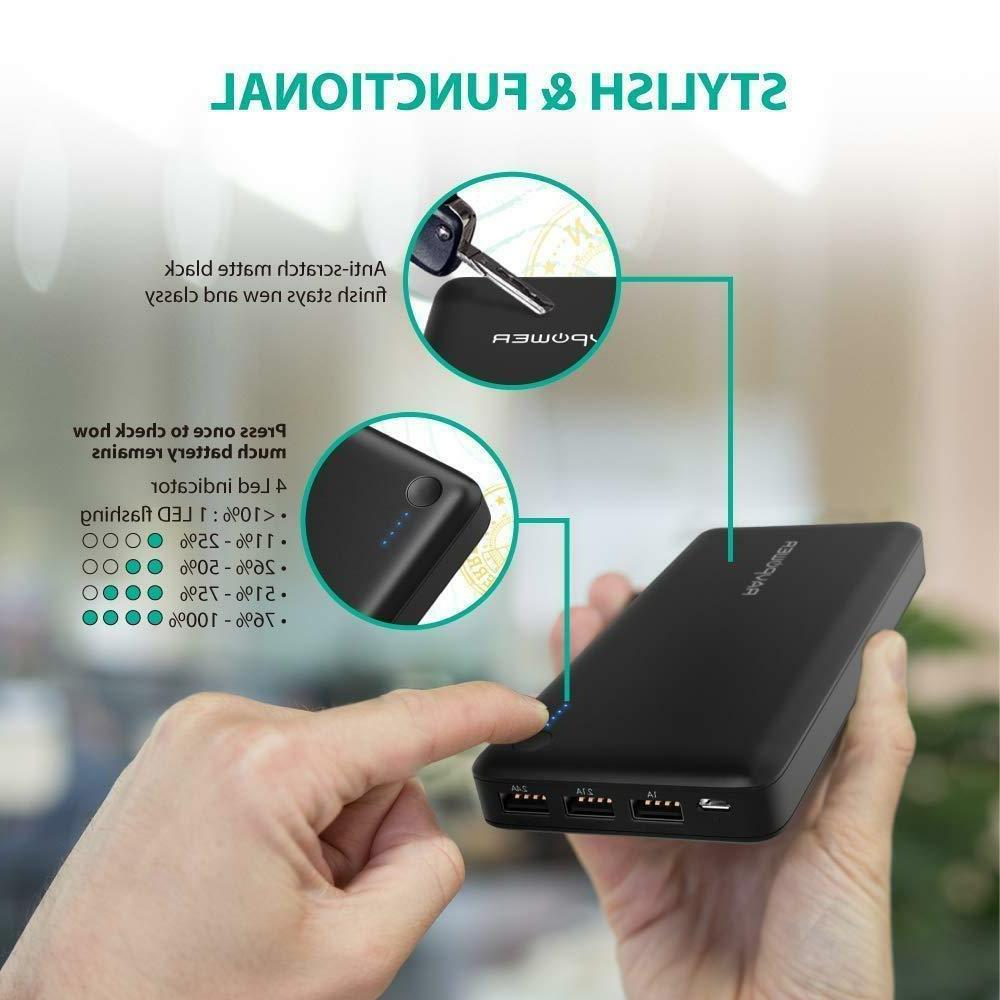 Phone Charger Portable Battery 26800mAh USB
