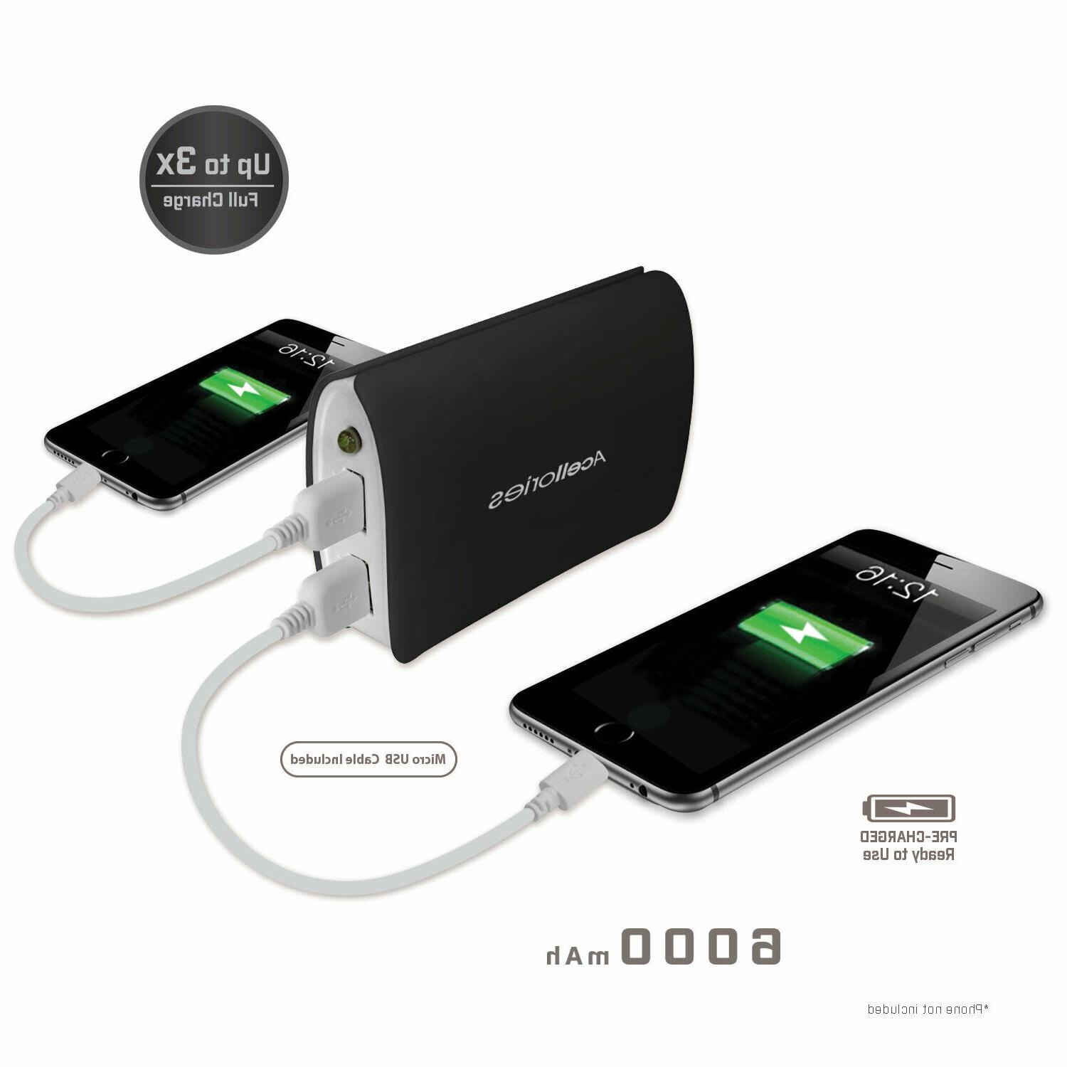 Acellories Bank 6000mah Portable -Quick 2.1 USB