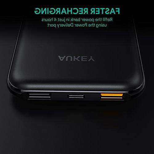 AUKEY Bank, Bank, 18W Charger 3.0 iPhone Xs/XS Max, Samsung,
