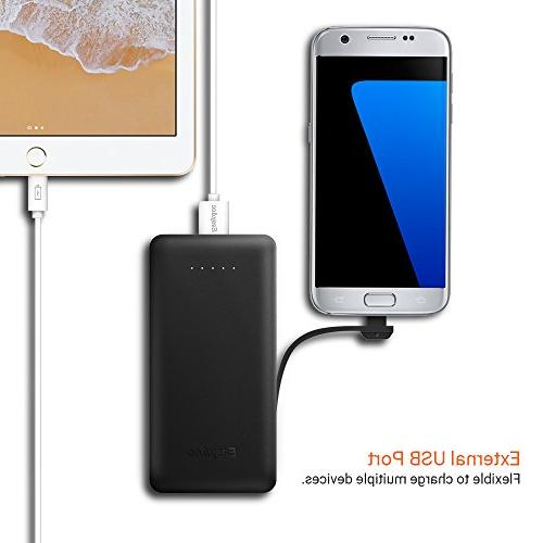 EasyAcc Power 6000mAh Portable with Built-in Micro Slim for Smartphones