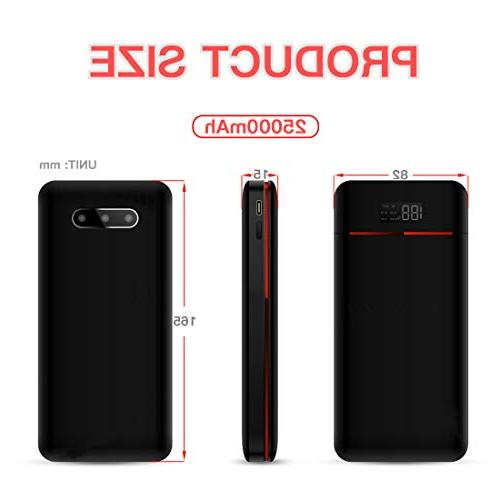Power Bank 25000mAh Charger Pack with Three Outputs&Dual Inputs Huge Capacity Compatible Smartphone,Tablet and
