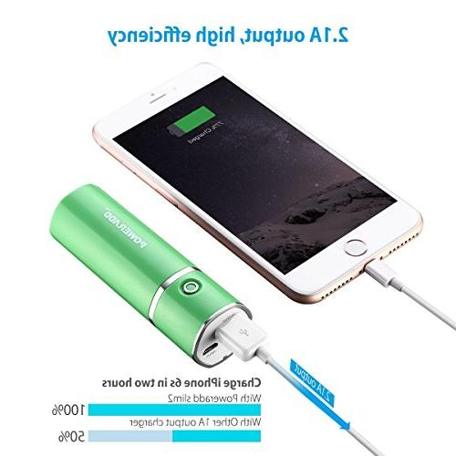 Poweradd Slim Charger Stick Charge Galaxy Green