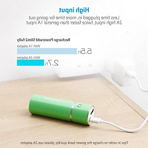 Poweradd Slim 2 Charger 5000mAh Stick for Galaxy and More Green