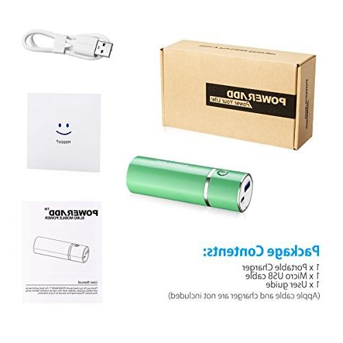 Poweradd Slim Charger Stick with Smart for iPad, Galaxy and Green