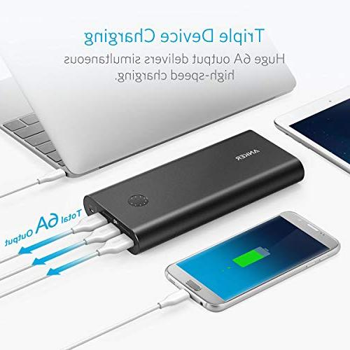 Anker PowerCore+ Premium Portable Charger, 26800mAh External Battery Qualcomm Quick Charge 3.0 , Includes Wall