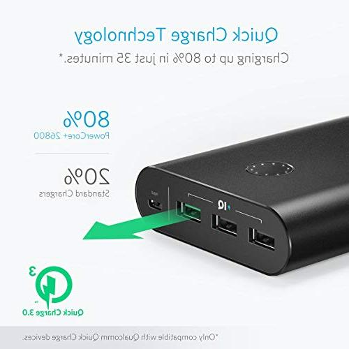 Portable Charger, High 26800mAh External with Qualcomm Charge 3.0 , Wall Charger