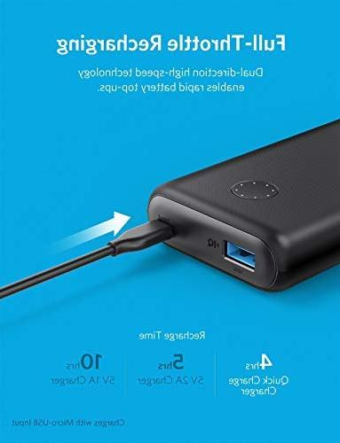 Anker PowerCore 10000, Ultra-Compact Charger, Upgraded PowerIQ Fast Charge Samsung Galaxy