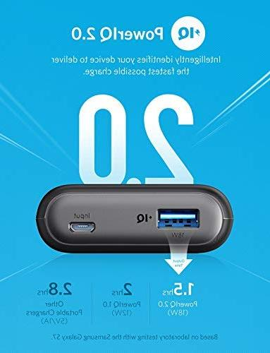 Anker II 10000, Ultra-Compact 10000mAh Upgraded Fast iPhone, Samsung More