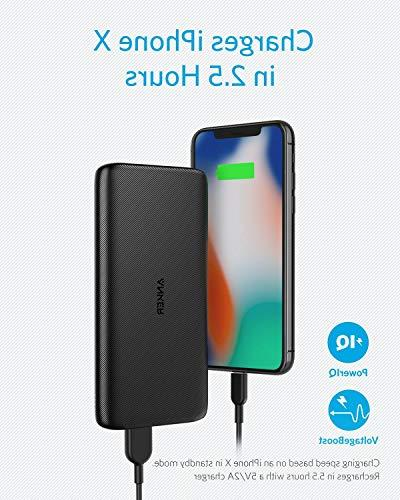 Anker Lite USB-C Input Capacity Charger, and Light External for Galaxy, and