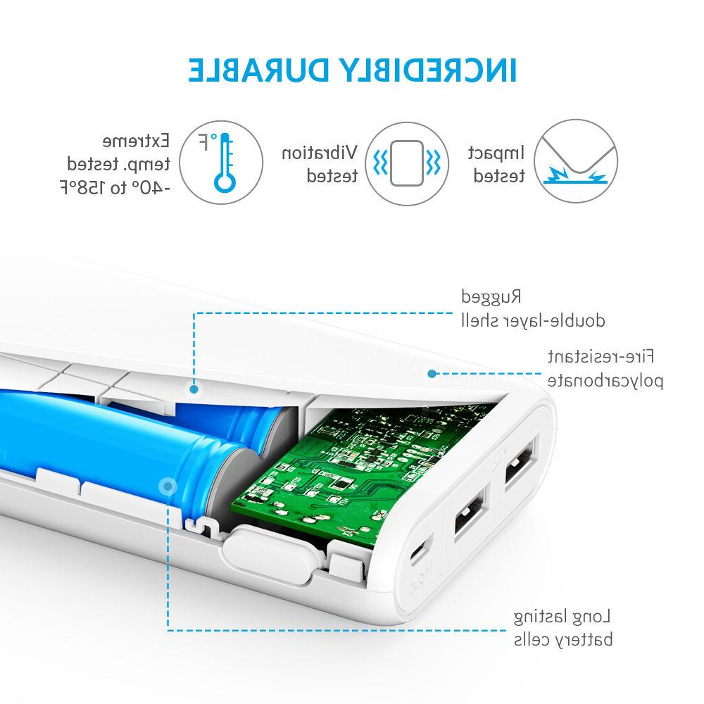 Anker Portable Charger with Output and White
