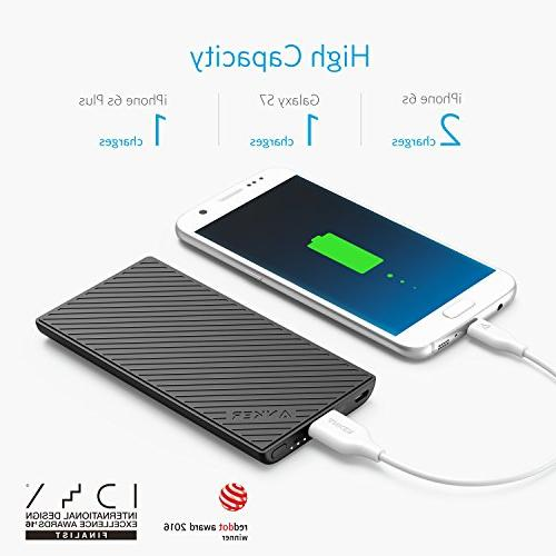 Anker PowerCore 5000 Portable 5000mAh External High-Speed Charging Technology, Pocket Friendly Power Bank, Designed for Smartphones