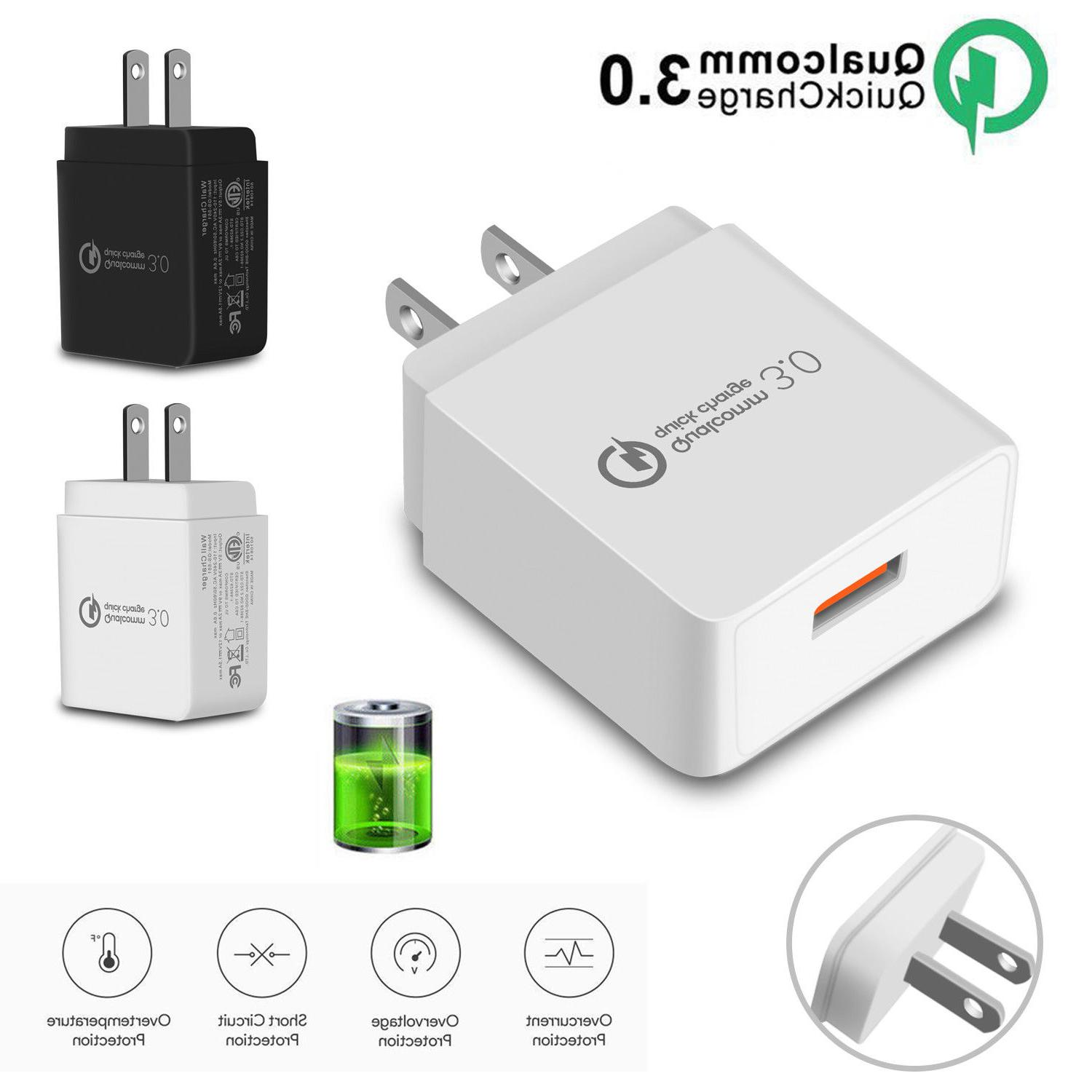 QC 3.0 Fast Charger Adapter USB Wall Charger Portable Travel
