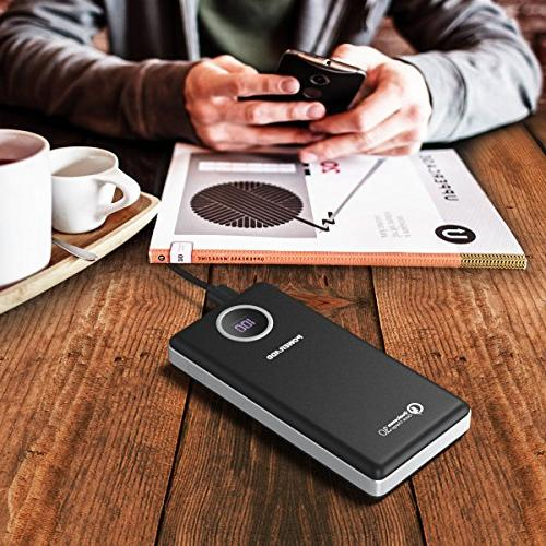POWERADD QC3.0 Power Bank Output with LED for IPhone iPad Samsung Galaxy Phones Portable Charger