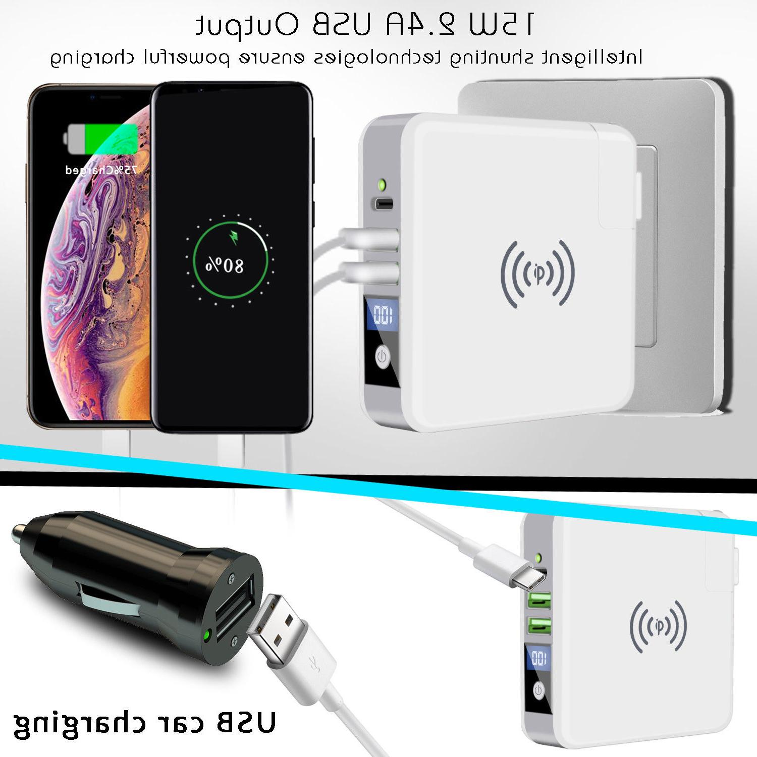 Qi Charging Power Battery Charger Dual Type-C