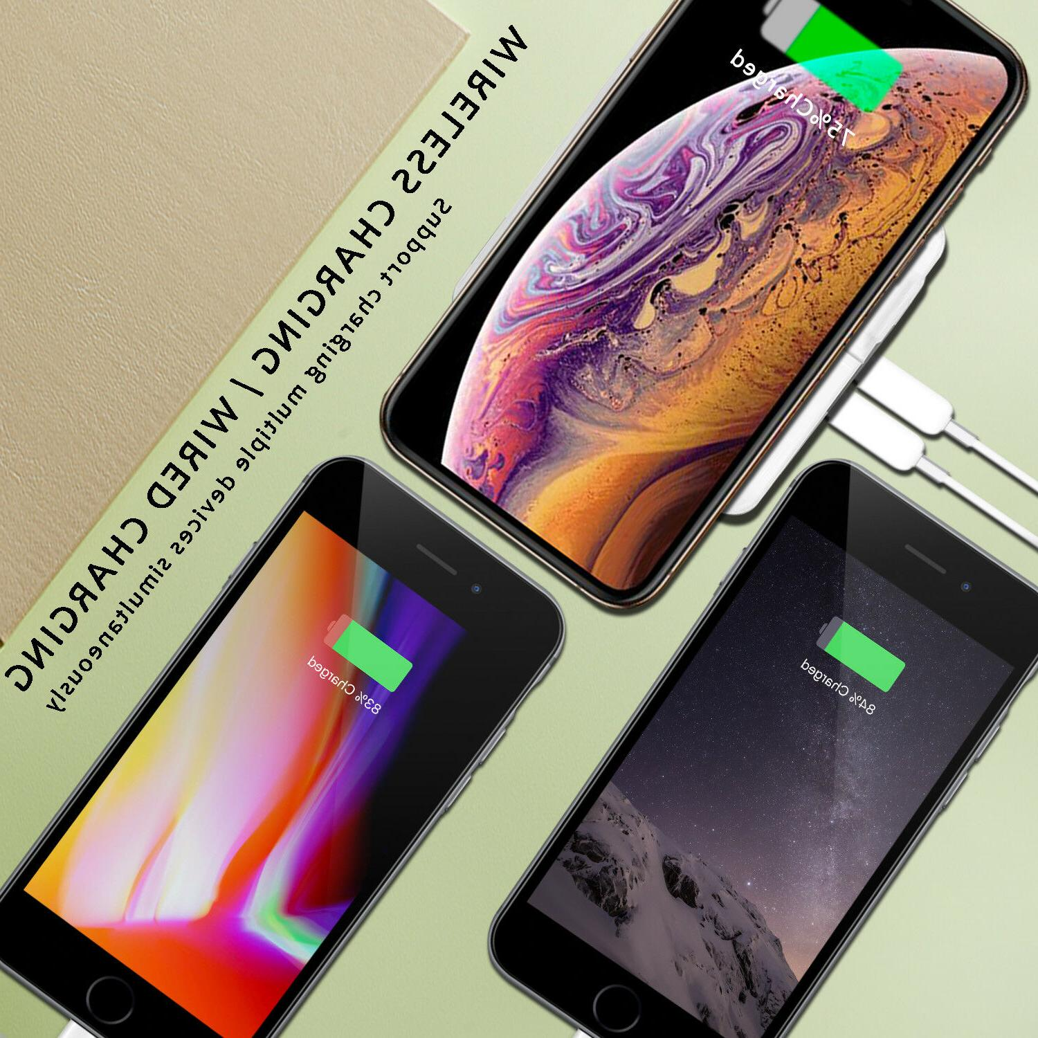 Qi Fast Power Portable Battery Charger Dual Type-C