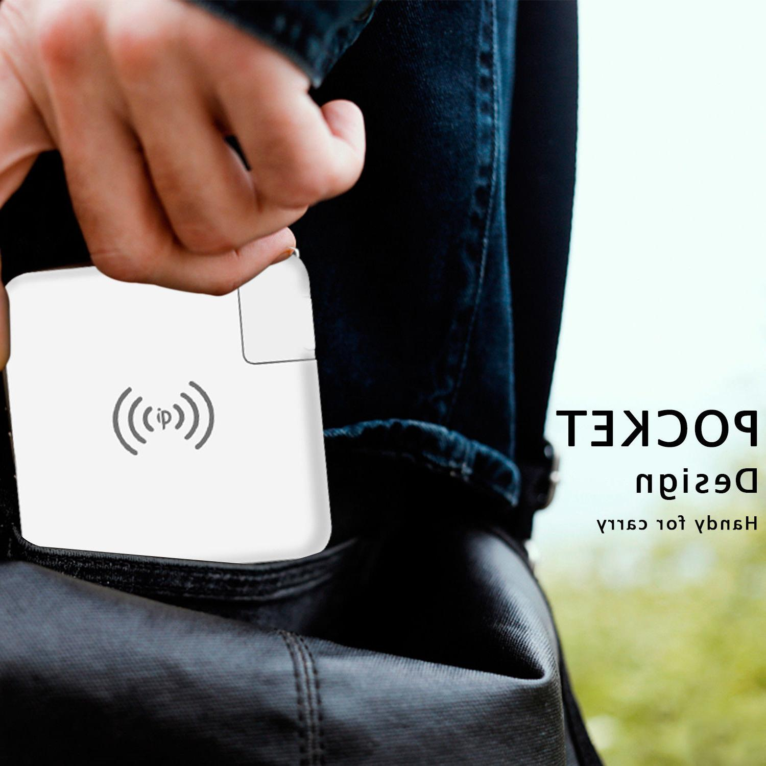Qi Wireless Fast Power Bank Charger Dual Type-C