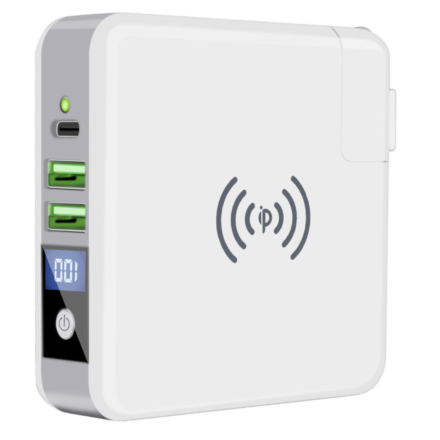 qi wireless fast charging power bank portable