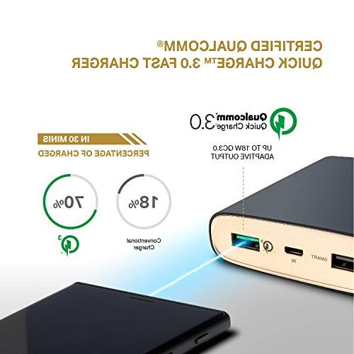 TP-Link 13400mAh Qualcomm Certified Quick Charge 3.0 Power Charging, Universal Portable Charger Samsung iPhone, iPad More