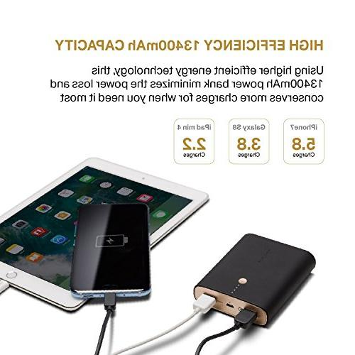 Qualcomm Certified Quick Charge 3.0 Power Smart Charging, Universal Portable Charger Samsung iPhone,