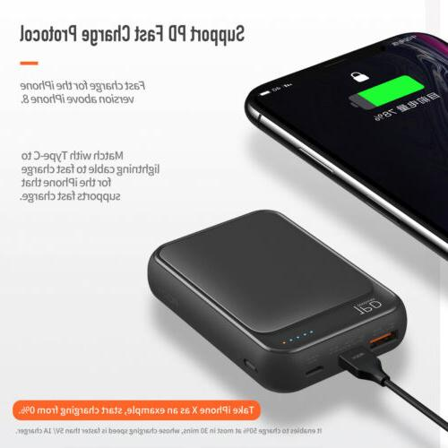ROCK Portable PD QC Charge 10000mAh Charger Digital