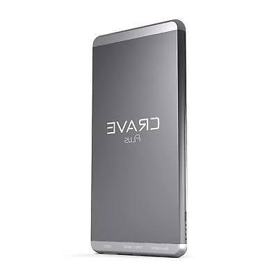 Slim Power Bank, Crave PLUS Aluminum Portable Charger with 1