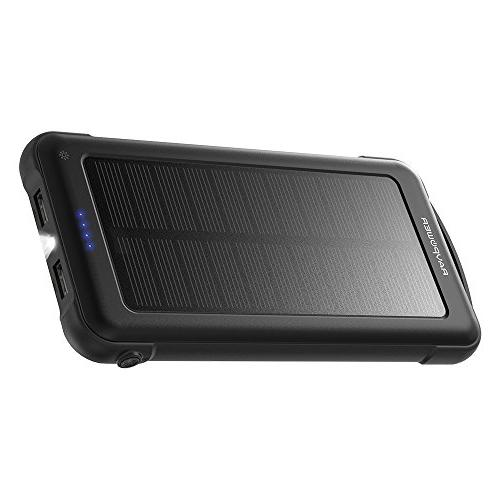 RAVPower Solar 10000mAh Power Flashlight Shockproof Portable Pack iSmart 2.0 and XS/XS MAX/XR, and
