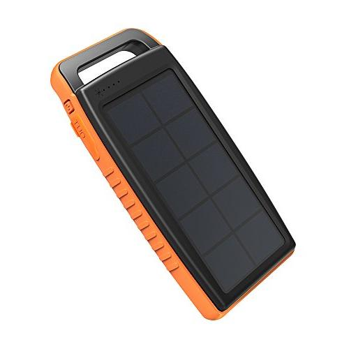Solar Charger RAVPower 15000mAh Portable Charger Solar Bank USB External Battery with S9, Note iPhone X, 8 Plus, and More