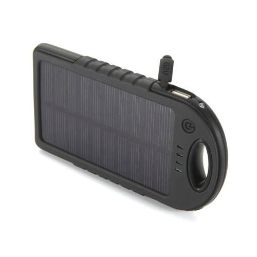 Portable Waterproof Solar Charger Dual USB External Battery